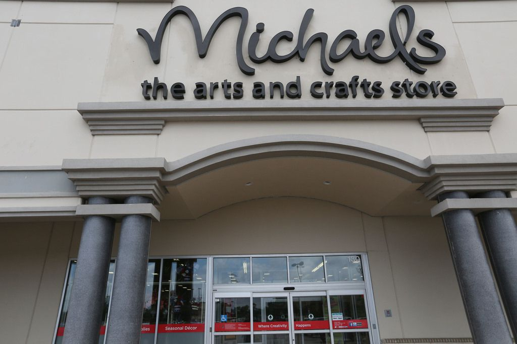 The entrance to the Michaels store at the Park Place Shopping Center in Plano, Texas.