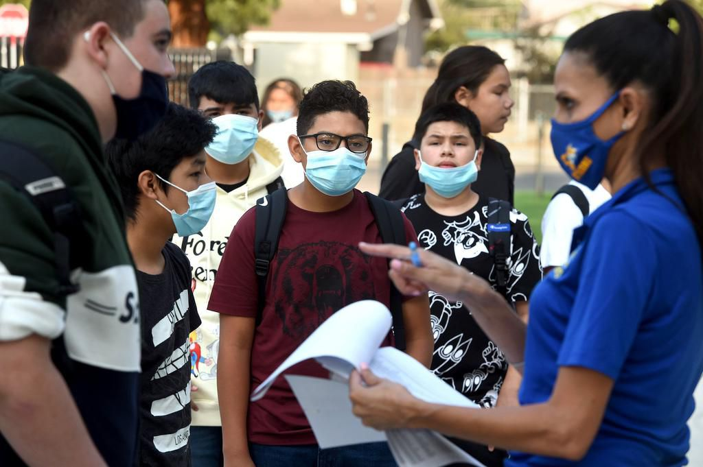 Tehipite Middle School in Fresno, Calif., welcomed back their students-all masked up- who were anxious to get back to in-person learning, to kick off the school year.