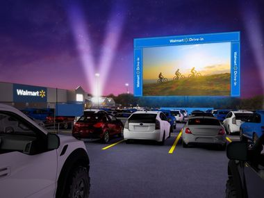 Walmart is transforming the parking lots at 160 U.S. locations into drive-in movie theaters offering free showings of classic movies from August through October.