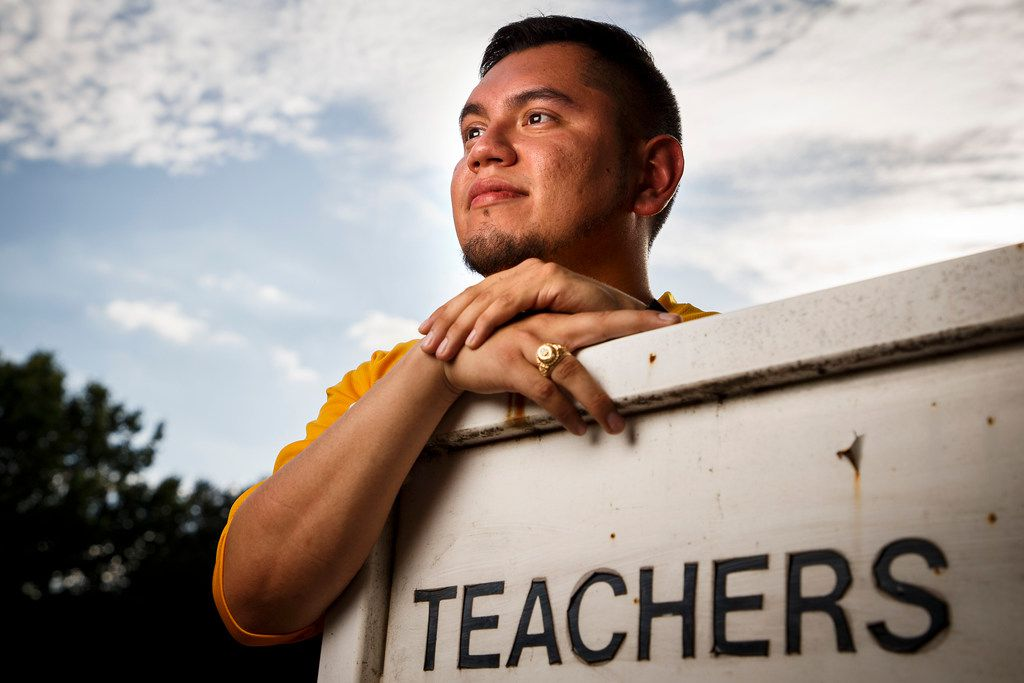Luis Juarez-Trevino, a 5th grade teacher at Lipscomb Elementary School, is now lobbying Congress hard to pass legislation that would provide a citizenship pathway to immigrants such as himself who have Deferred Action for Childhood Arrivals.  (Smiley N. Pool/The Dallas Morning News)