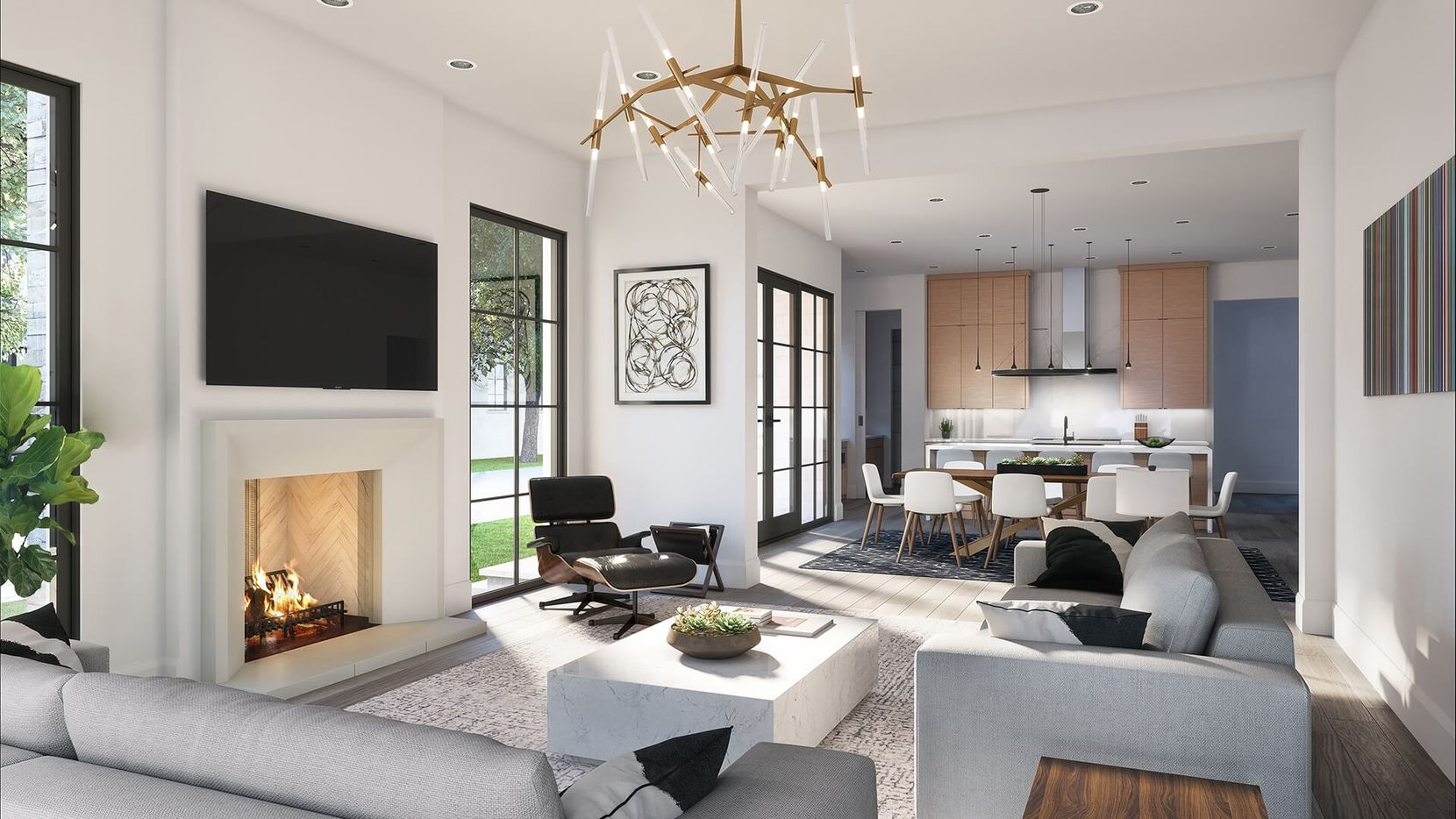 The homes by Rosewood Custom Builders have large living areas.