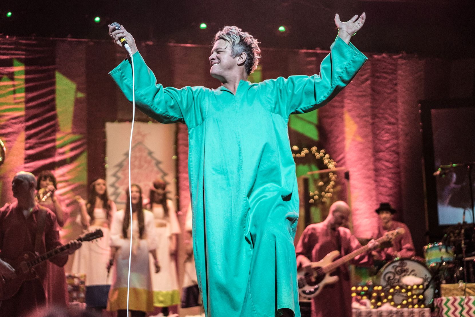 Tim DeLaughter, lead singer of the Polyphonic Spree, performs at the Majestic Theatre as part of the band's 2016 Holiday Extravaganza.