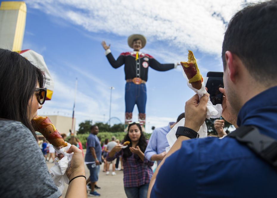 Fletcher's corny dogs are some of the most iconic foods at the State Fair of Texas.