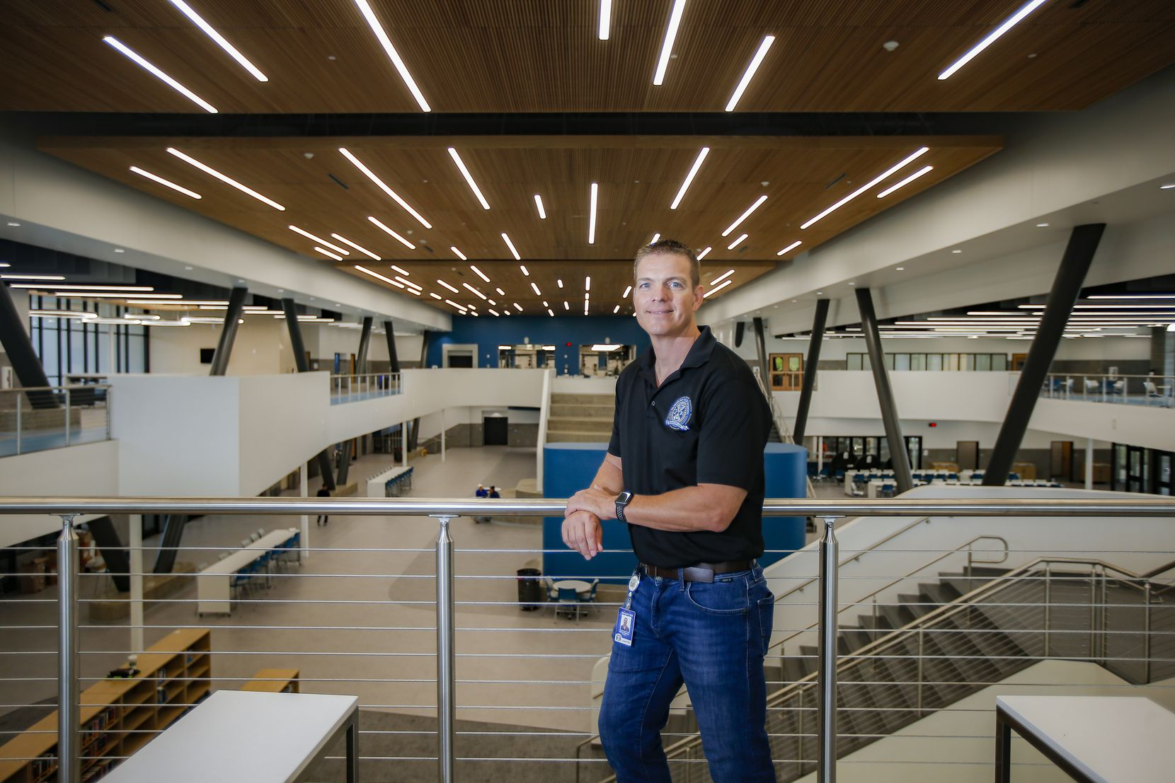 """Clint Elsasser, top administrator at Mesquite's new Vanguard High School, says the new school is all about """"ripping the lid"""" off traditional education."""