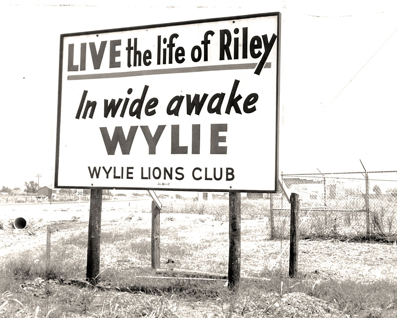 A sign created by the Wylie Lions Club was how the city got its slogan, said former Wylie Mayor Eric Hogue.
