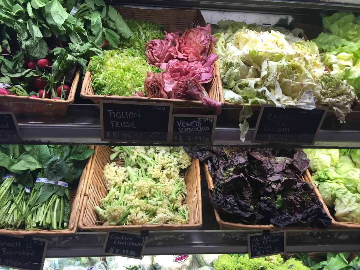 Fresh produce at Eataly in downtown Manhattan at the Westfield World Trade Center mall.