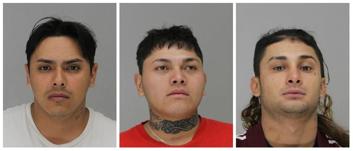 De izq. a der: Jonathan Alexander González Rosales, Elmer Alexander Lara Fuentes y Santos Antonio Muñoz Chicas.