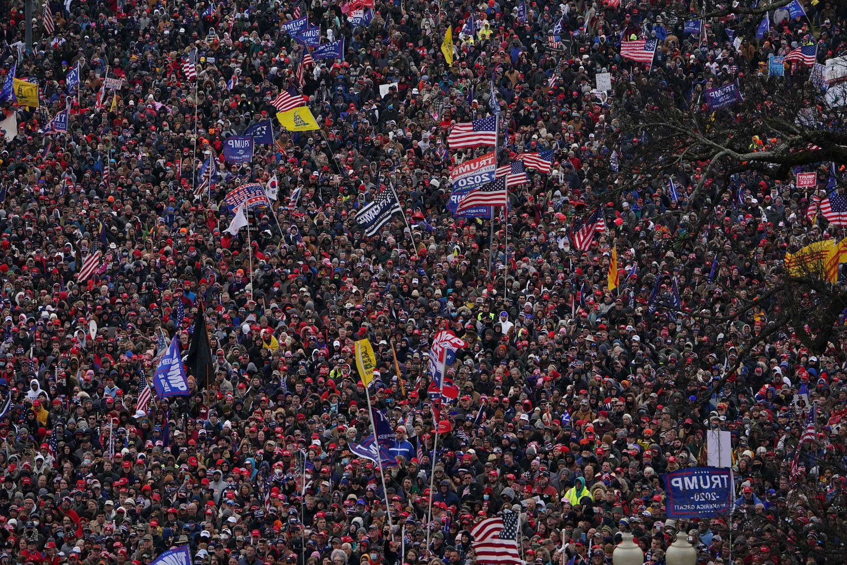 TOPSHOT - Supporters of US President Donald Trump demonstrate on the National Mall on January 6, 2021, in Washington, DC. - Demonstrators across Washington are protesting the 2020 presidential election Electoral Vote Certification by the US Congress.