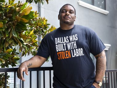 Dallas Truth, Racial Healing and Transformation executive director Jerry Hawkins poses for a portrait outside of his home in Dallas on Wednesday, July 29, 2020. The nonprofit helps groups develop frameworks for building more plans for achieving racial equity and was recently awarded a $500,000 grant from the Texas Instruments Foundation, the largest grant since its founding grant from the Kellogg Foundation.