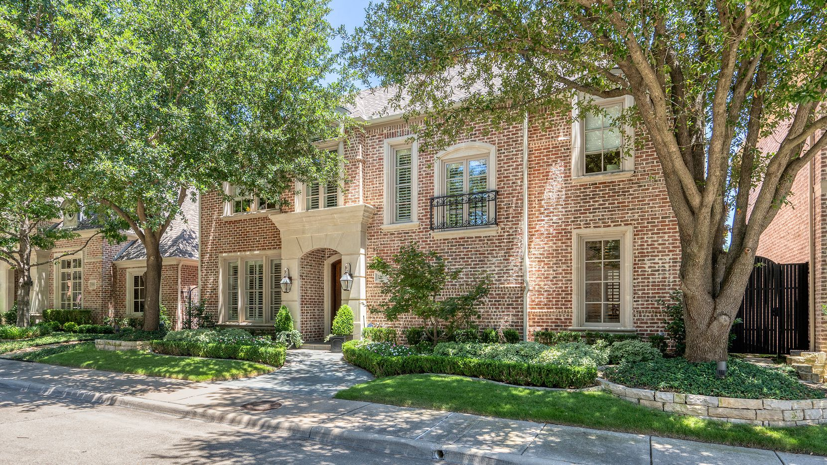 The 4,360-square-foot residence at 12016 Edgestone Road in Dallas' Lake Forest community has a Sonos sound system and a pool.