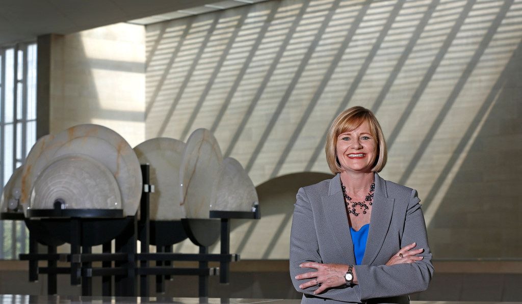 Dallas Symphony president and CEO Kim Noltemy is pictured at the Meyerson Symphony Center.