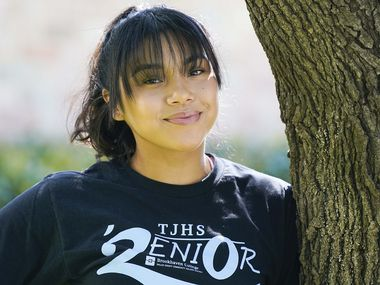 Marysol Ortega, a senior at Thomas Jefferson High School, lost her campus to a tornado in October. Now the rest of her high school days will be completed at home as the coronavirus pandemic has forced Texas' schools to remain closed for the remainder of the school year.