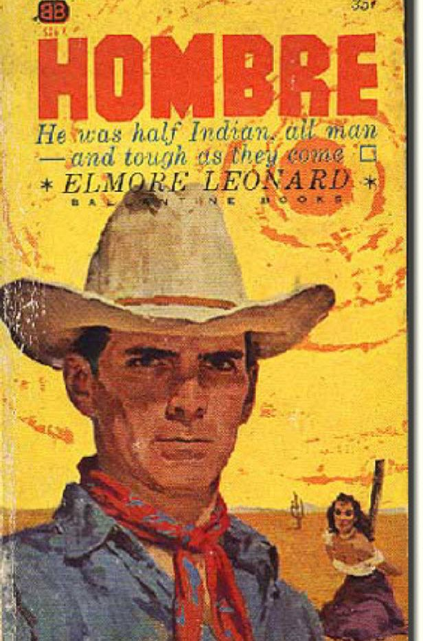 The original paperback of Hombre, by Elmore Leonard.