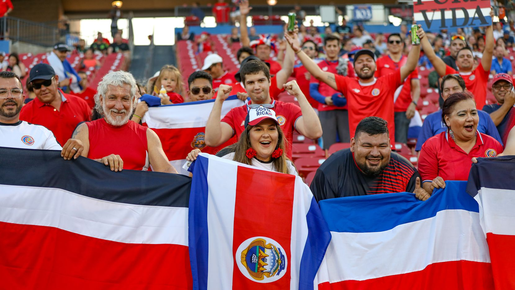 Costa Rica fans are ready for action at the 2019 Gold Cup at Toyota Stadium in Frisco, Texas. (6-20-19)
