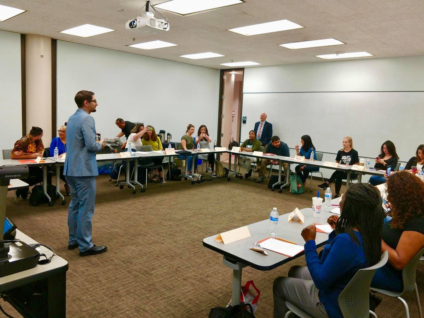 University of Texas at Austin associate professor of education David DeMatthews instructs teachers who want to become administrators. He says 2020 is the hardest year in public education for everybody. It's not uncommon for adult students in his class to break down and cry due to frustrations.