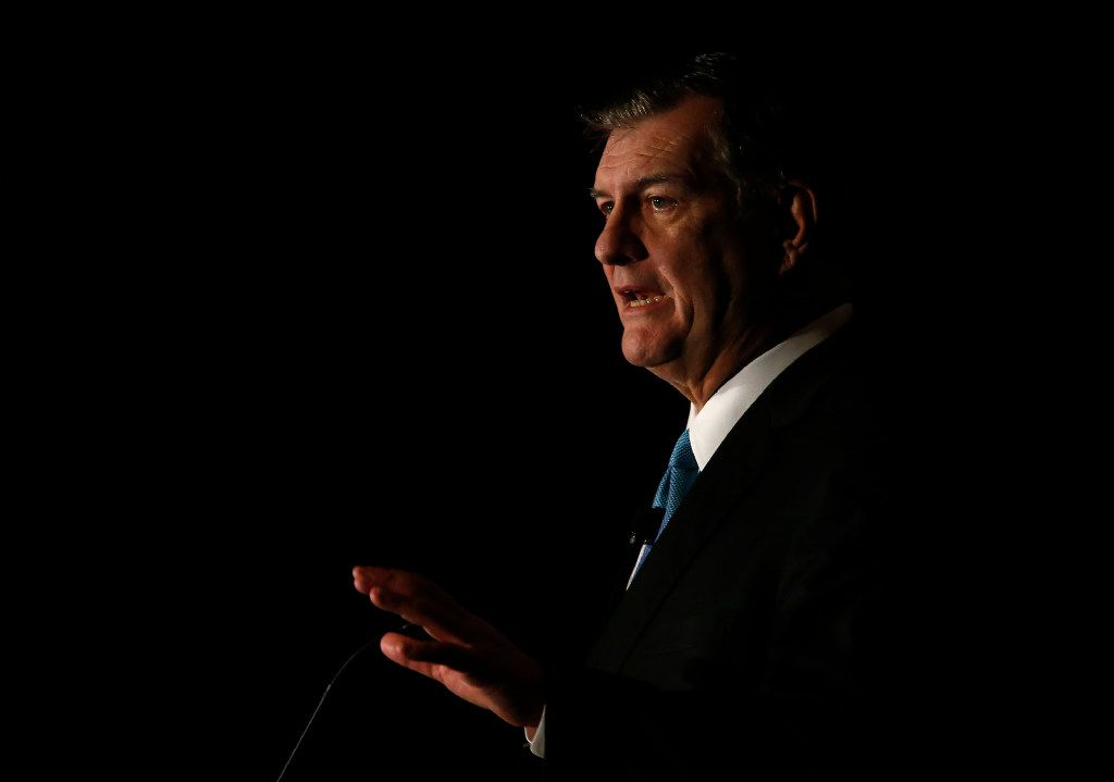 Dallas Mayor Mike Rawlings delivered his State of the City address on Thursday at the Omni Dallas Hotel.  (Jae S. Lee/Staff Photographer)