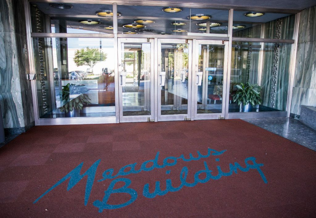 The entrance to the Meadows Building on Wednesday, October 5, 2016 on Greenville Avenue between Milton Street and E University Blvd in Dallas. GlenStar Properties, the owners of the historic building, plan to preserve it and it's surroundings, and add a park in the center of the complex. (Ashley Landis/The Dallas Morning News)