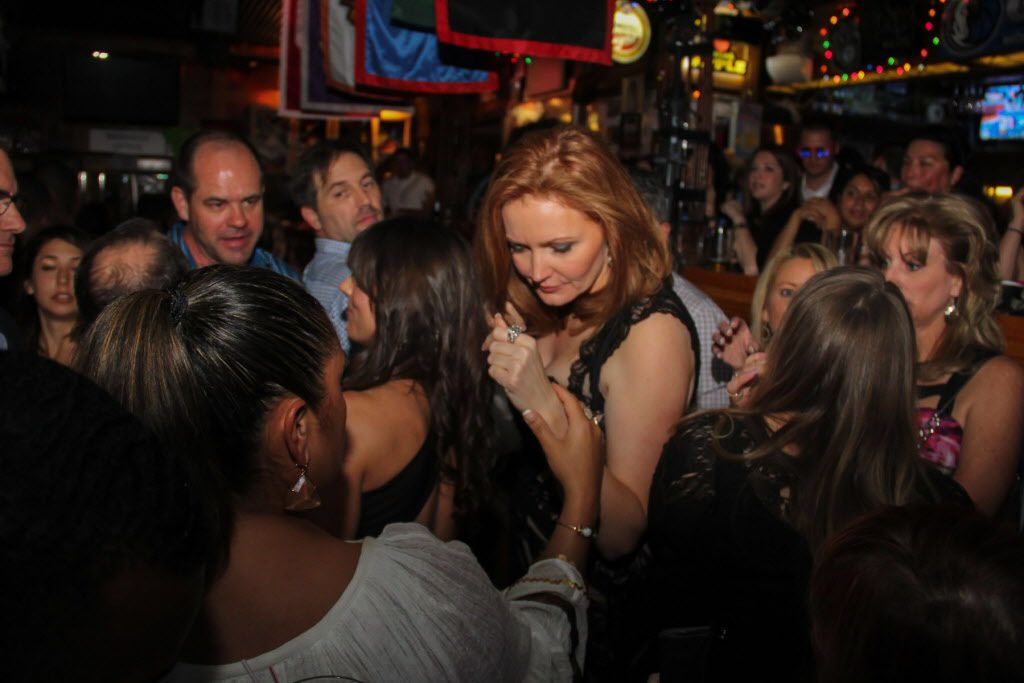 Kellie Rasberry made her way through the crowd of fans at her birthday bash at Big Al's McKinney Ave Tavern on April 16, 2015.