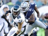 Philadelphia Eagles tight end Zach Ertz (86) misses the pass during the first half of play at Lincoln Financial Field against the Dallas Cowboys in Philadelphia, on Sunday, September 20, 2015.