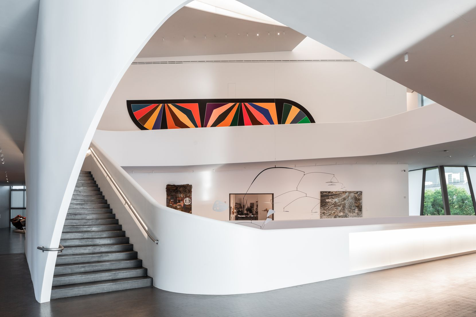 The new building accommodates the museum's growing collection of modern and contemporary art with space to show some 1,500 works.