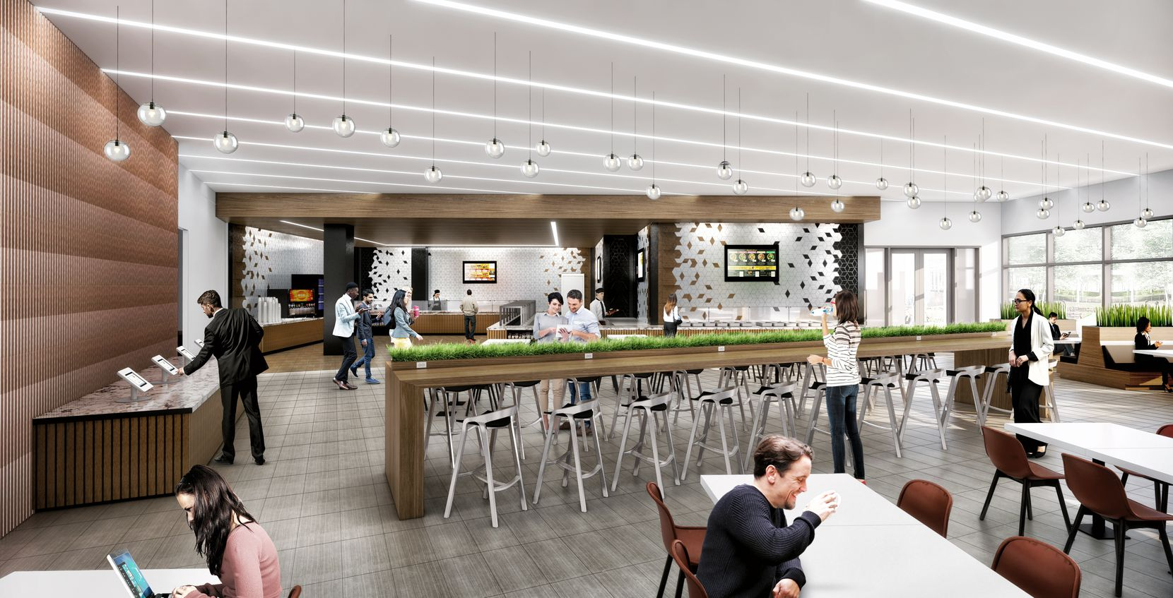 The redo will include a new food hall.