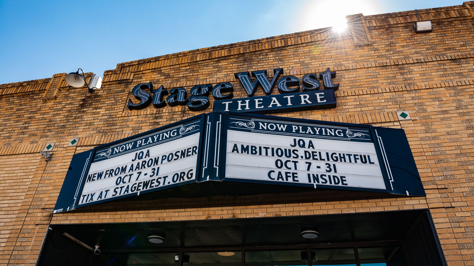 """Stage West's renovations are ready to welcome audiences for its season opener. Its exterior may also get refurbished thanks to the designation of the Near Southside neighborhood as a state """"cultural district"""" and the grant money that can come from that."""