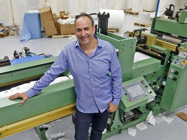 Eric Grossman, CEO at Metropak in Richardson, is betting big on the RagBag as the successor to plastic retail sacks. His company spent $1 million on a machine to produce the bag and may soon operate 10 of them.