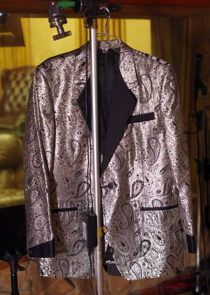 Country star Charley Pride's silver paisley show jacket is part of a collection of memorabilia that will be donated to the Smithsonian's National Museum of African American History and Culture. Photographed at his Dallas studios, Monday, September 24, 2012.