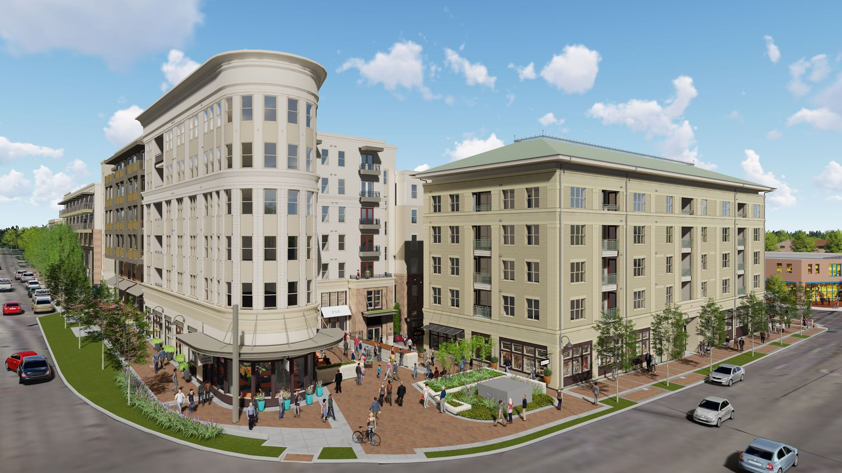 Crescent Communities' Novel Bishop Arts project will have more than 300 apartments and retail space.