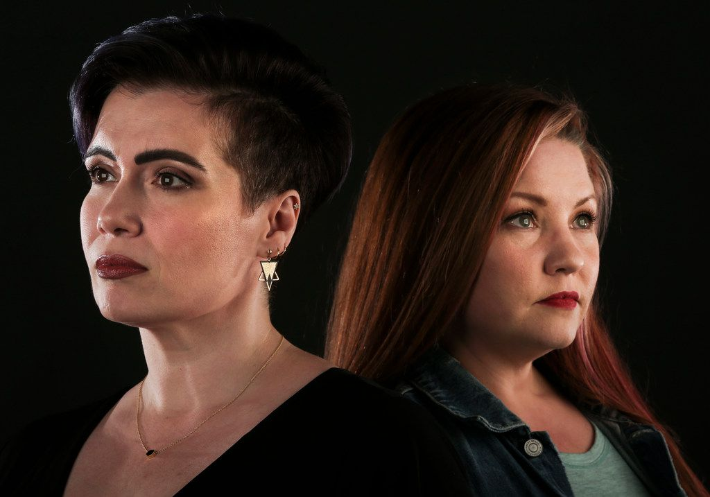 Monica Rial (left) and Jamie Marchi, photographed at The Dallas Morning News on July 24, are two of the defendants named in Vic Mignogna's lawsuit.