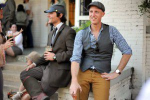 Jason Roberts, right, on the 2014 Tweed Ride, which he organized. (Alexandra Olivia/ Special contributor)
