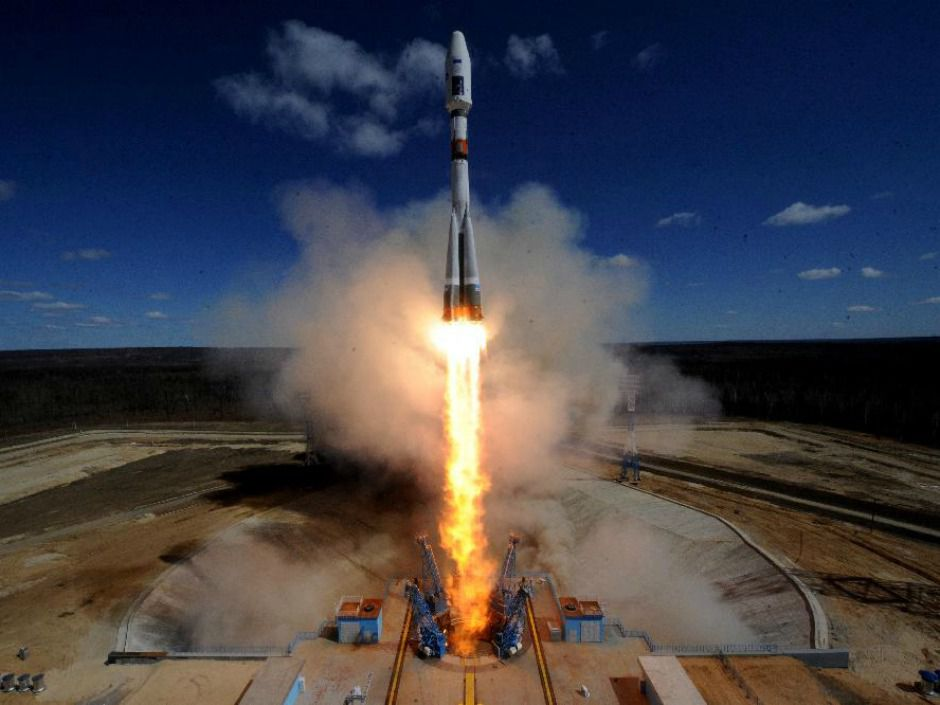 Russia launched the Soyuz 2.1a rocket in 2016 into space to release three satellites.