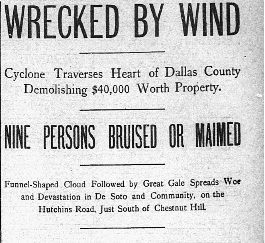 Clipping from March 12, 1902 of The Dallas Morning News.