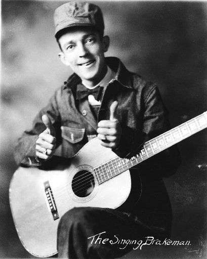 """Jimmy Rodgers is shown in this undated photo courtesy of Country Music Hall of Fame and Museum, which includes his nickname """"The Singing Brakeman.""""  (AP Photo/Courtesy of Country Music Hall of Fame and Museum)"""