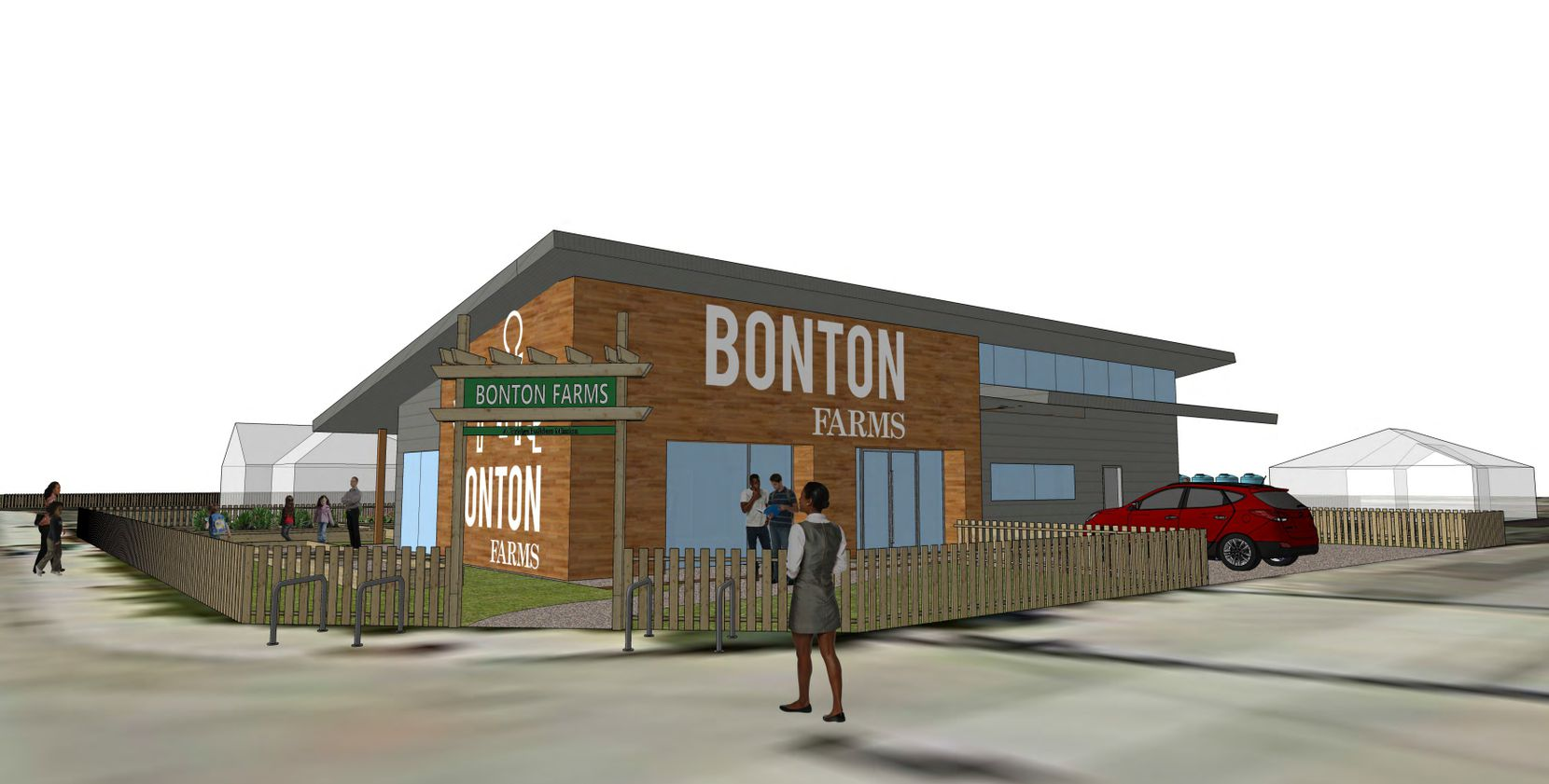 The cafe and market will serve as the entrance to Bonton Farms on Bexar Street