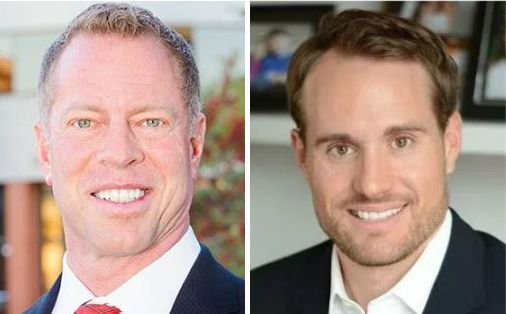 John Keating, left, won the runoff election over Brandon Burden for the Place 1 seat on the Frisco City Council.