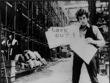 """Look out, kid, it's something you did: Bob Dylan in D.A. Pennebaker's 1967 film """"Don't Look Back."""""""