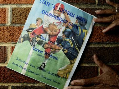 In 1961, Hamilton Park High School, an all-Black school in Richardson ISD, won the city's first state football championship, in what was then called the Prairie View Interscholastic League. Author Michael Hurd will take part in a live virtual event for the Allen Public Library on May 13 to discuss the largely unknown history of Black high school football in Texas.
