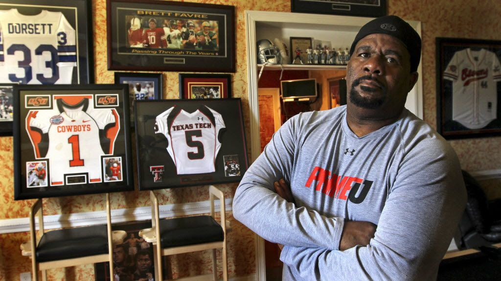 David Wells, who is an adviser to high-profile receivers in the NFL draft (namely Dez Bryant and Michael Crabtree) is pictured at his home in DeSoto on Thursday, May 6, 2010.  (Louis DeLuca/The Dallas Morning News) 09182011xSPORTS