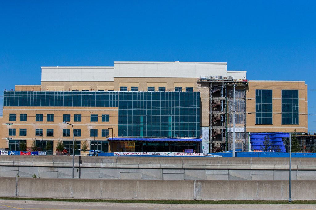 New construction like the Texas Scottish Rite Hospital for Children in Frisco is helping to drive the increase in preliminary appraised values.
