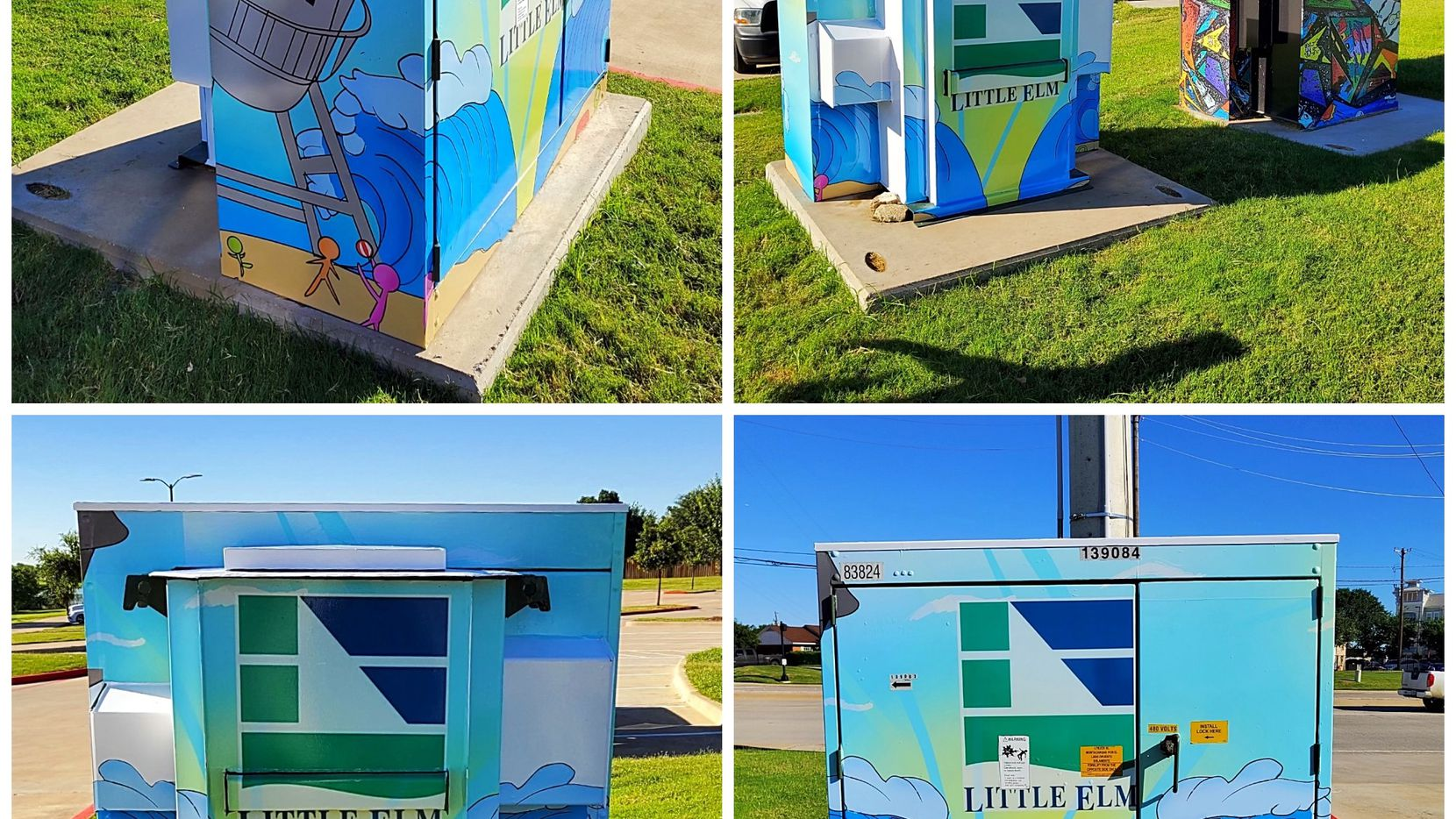 The town of Little Elm has partnered with the local Signarama to wrap public utility boxes and bring more color to the town.