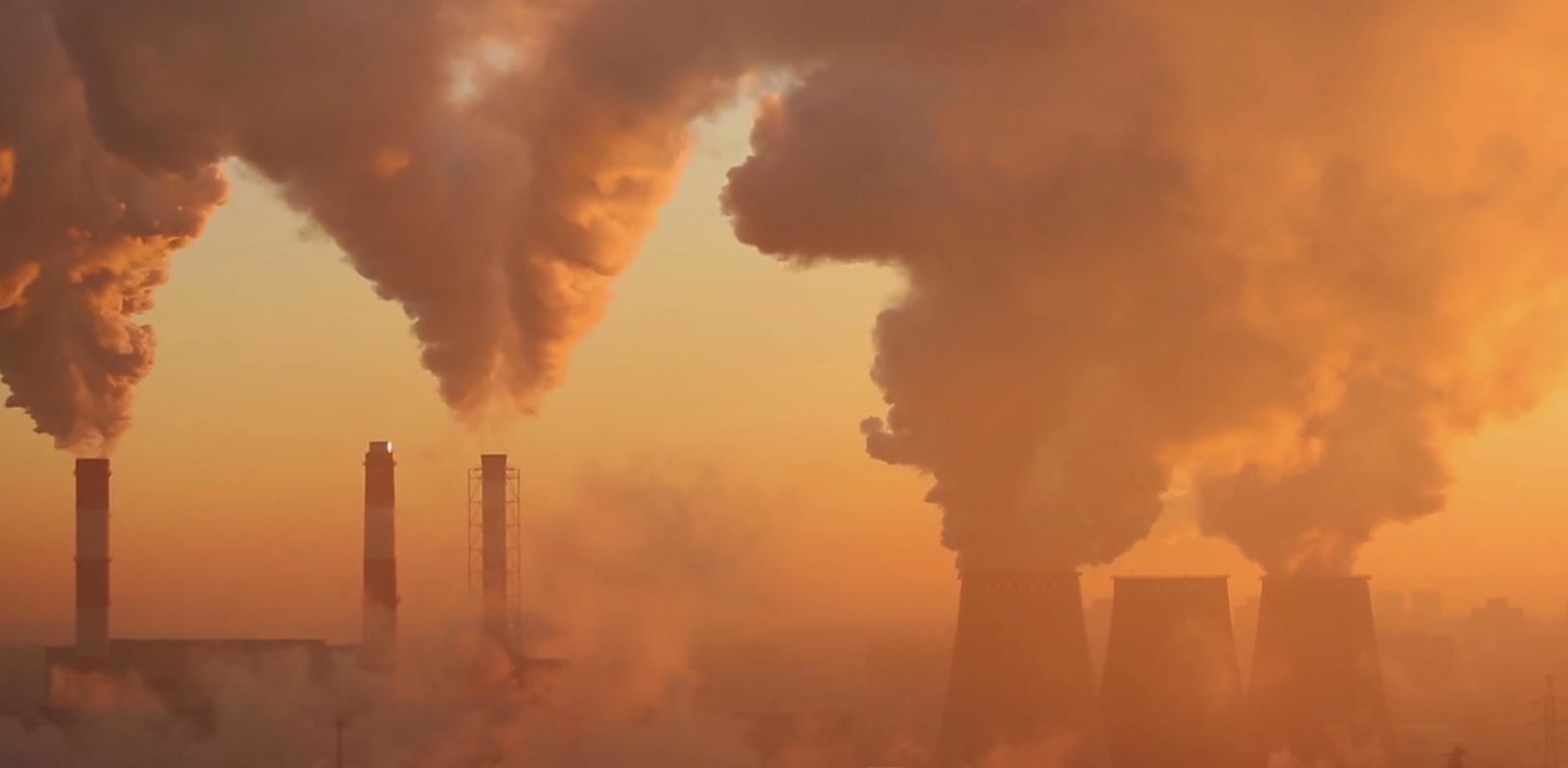 """Smoke billows from coal plants in the National Geographic documentary, """"From the Ashes."""""""