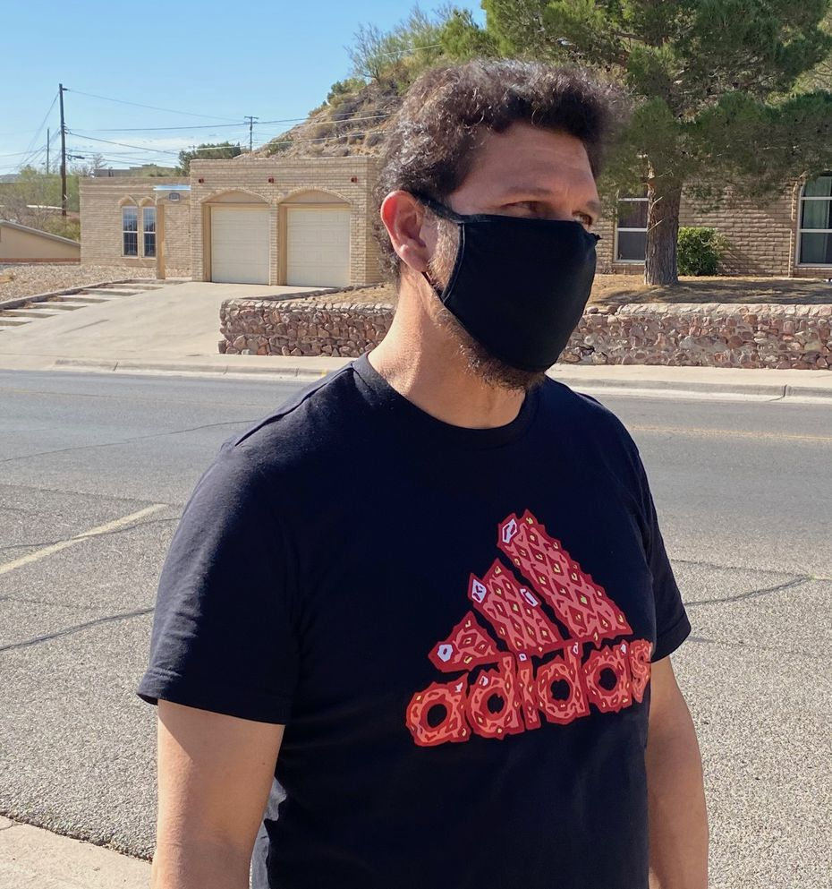 Daniel Sanchez, 43, drove over 200 miles to cast a ballot in El Paso for President Trump, saying he was afraid Democratic presidential candidate Joe Biden would end his oil job.
