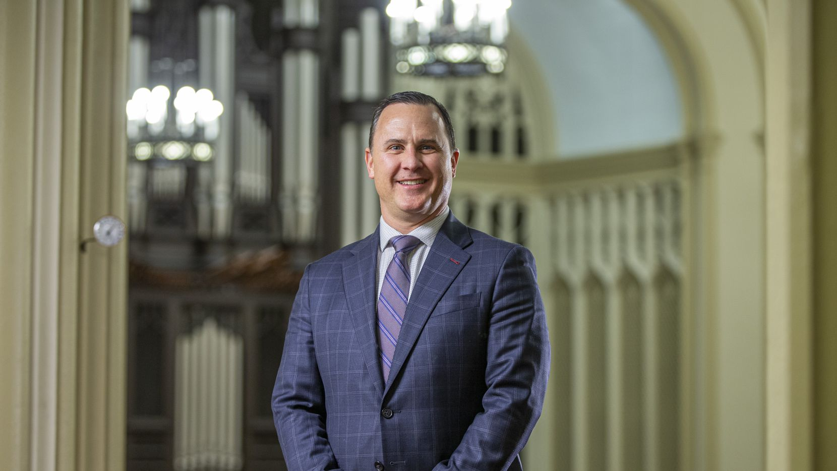"First United Methodist Church's senior pastor, Andy Stoker, will lead a celebration of all marriages in the church sanctuary Dec. 29. He says the special worship service is ""about seeing and recognizing all congregation members."""