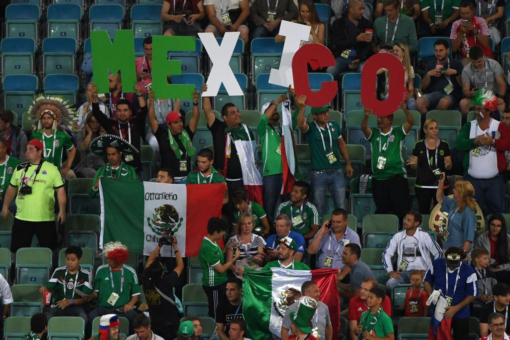 Fans de la selección mexicana no hicieron el famoso grito homofóbico durante el juego del Tri ante Nueva Zelanda en la Copa Confederaciones. Foto GETTY IMAGES