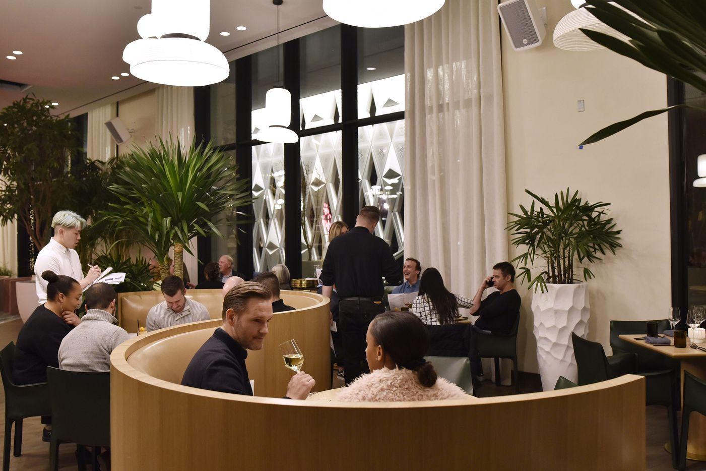 The main dinning room at Commons Club restaurant inside Virgin Hotel in Dallas, Dec. 10, 2019.