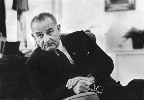 FILE -- President Lyndon B. Johnson in the Oval Office of the White House in Washington, June 28, 1966. Family and friends of Johnson say that his presidential legacy has been tainted by the Vietnam War, and they are working to highlight his legislative milestones on their 50th anniversary in February 2014.