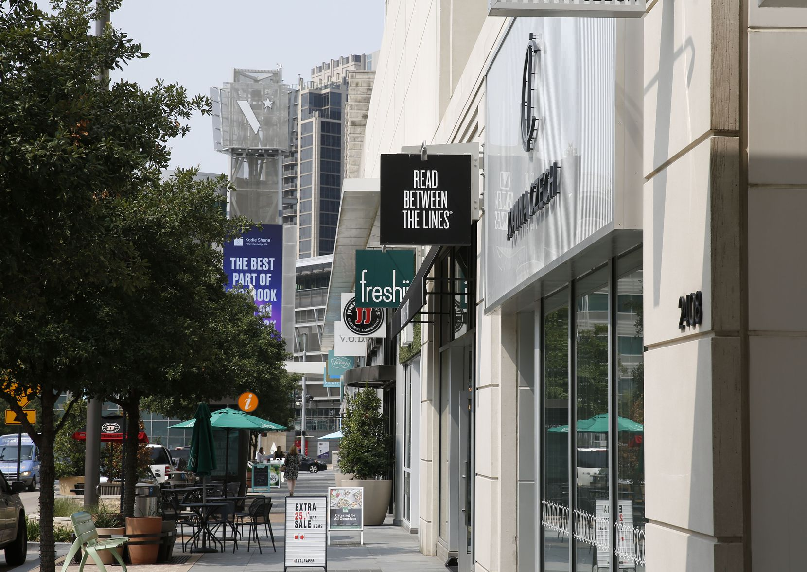 Victory Park's shops and restaurant space is now more than 80 percent leased with more new eateries and merchants coming before the end of the year.