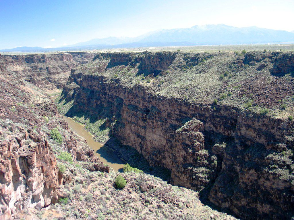 Rio Grande Gorge in New Mexico provides a great setting for hiking, biking, horseback riding, or whitewater rafting.