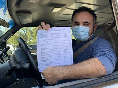 Bernardino Campos, 49, es ciudadano desde hace ocho años y ésta será la primera vez que participe en las elecciones.